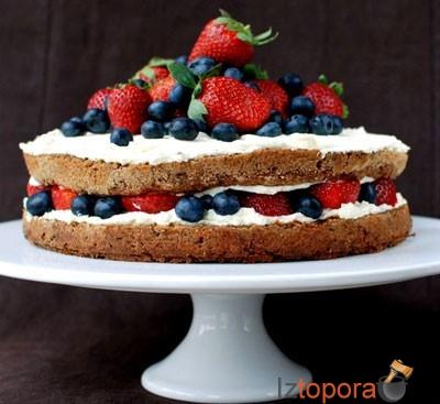 с ягодами Открытый фото с торт рецепт