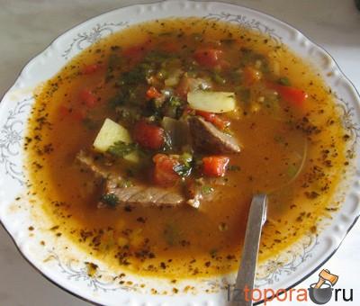 мясной суп из говядины рецепт #11