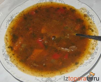 мясной суп из говядины рецепт #15